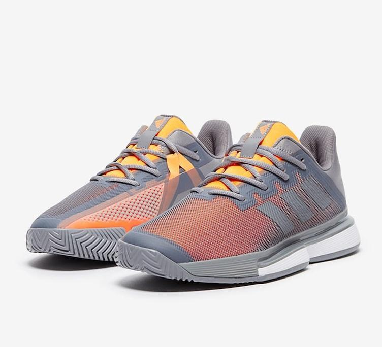 Giầy Tennis Adidas SoleMatch Bounce Ghi Cam