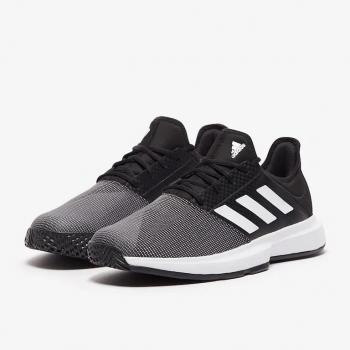 Giầy Tennis Adidas Game Court Core Đen/Trắng