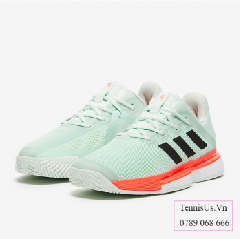 Giầy Tennis Adidas SoleMatch Bounce Xanh/Cam