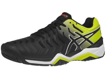 GIẦY TENNIS ASICS GEL RESOLUTION 7 ĐEN/VÀNG
