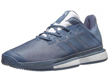 Giầy Tennis Adidas SoleMatch Bounce Trắng/Xanh